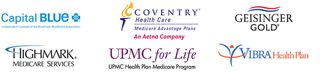 Featured Carrier Connections include Aetna/Coventry, Capital BlueCross, Geisinger, Highmark, UPMC, and Vibra HealthPlan.