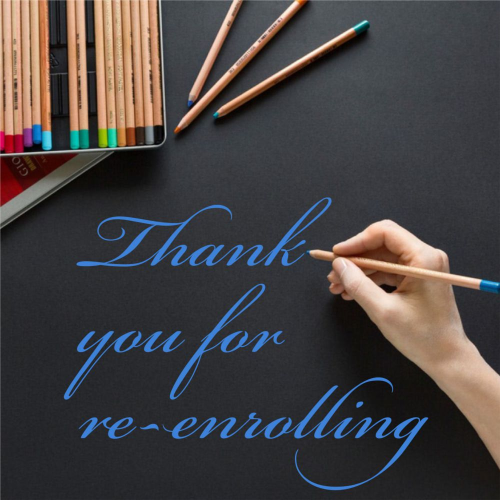 Thank you for re-enrolling!