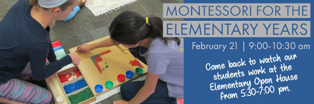 Montessori for the Elementary Years