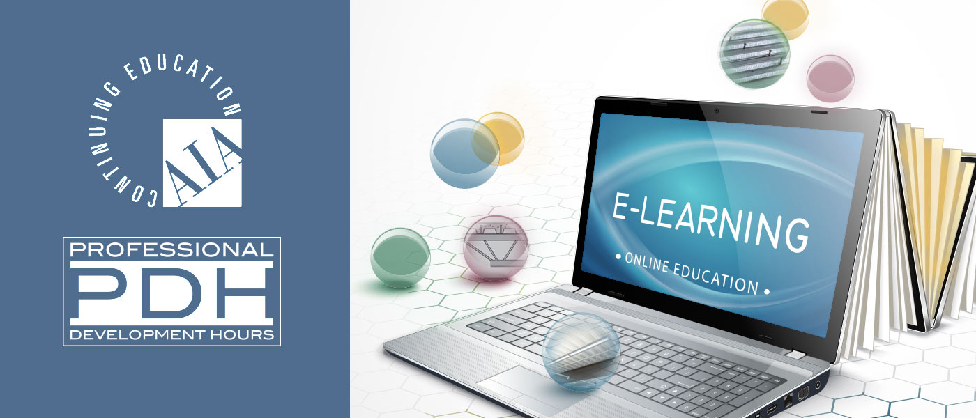 AIA PDH Online credit hour courses Laptop promoting E-Learning
